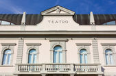 Facade of the Theater of Gradisca d'Isonzo — Stock Photo