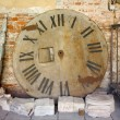 Stock Photo: Remains of Old Tower Clock