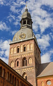 Belfry of the Lutheran Cathedral in Riga — Stock Photo