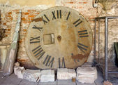 Remains of an Old Tower Clock — Stock Photo