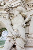 Neoclassic Statue of Bearded Man — Stock Photo