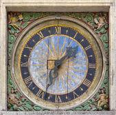 Ancient Square Wall Clock — Stock Photo