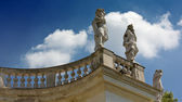 Neoclassic Statues on a Balustrade — Stock Photo