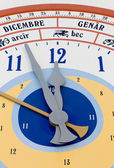 Close-up on Giant Calendar Wall Clock — Foto de Stock