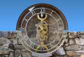 Transparent Water Clock in Pesariis — Stock Photo
