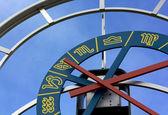 Zodiacal Clock in Pesariis — Stock Photo