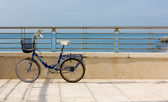 Bicycle on a Terrace by the Sea — Stock Photo