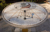 Mosaic Sundial in Aiello del Friuli — Stock Photo