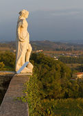 Neoclassic Statue on the Terrace of Rosazzo Abbey — Stock Photo