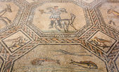 Ancient Floor Mosaic in the Basilica of Aquileia — Foto de Stock