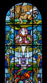 Stained Glass Window of the Duomo in Palmanova — Stock fotografie