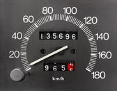 Automobile Speedometer and Odometer — Stock Photo