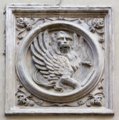 Saint Mark Lion Bas-Relief — Stock Photo