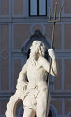 Sunlit Neptune Statue — Stock Photo