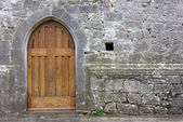 Stary kościół tylne drzwi — Zdjęcie stockowe