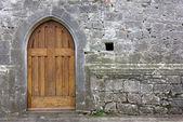 Old Church Back Door — Stock Photo
