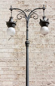 Decorated Streetlamp — Stock Photo