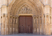 Entrance to the Valencia Cathedral — Stock Photo