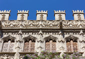 Closeup of the Silk Market Palace in Valencia — Stock Photo