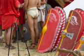In a Roman Encampment — Stock Photo