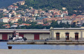 Buildings on the Waterfront in Trieste — Stock Photo