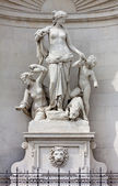 Statue of Tethys on the Facade of the Lloyd Palace in Trieste — Stock Photo