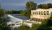 Lock on Isonzo River near Sagrado — Stock Photo