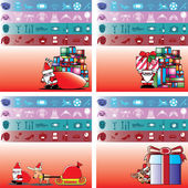 Santa and gift for boy, girl, man and lady — Stockvektor