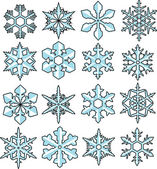 Snowflake vector for graphic works — Stock vektor