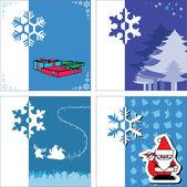 Noel Baba ve mavi kar tanesi — Stok Vektör