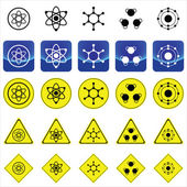 Sign graphics for atom and molecule structure vector — Stock Vector