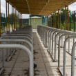 Bicycle railings — Stock Photo