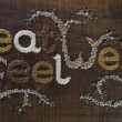 Stock Photo: Phrase Eat Well, Be Well Written And Decorated In Seeds