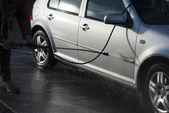 Washing car — Stockfoto