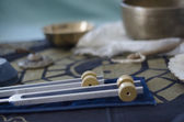 Healing Tuning forks. — Stock Photo