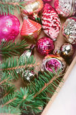 Decorations for Christmas trees — Stock Photo