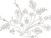 Vector flower design, floral ornament — Stock Vector