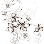 Vintage floral background, vector illustration — Stock Vector #13984852