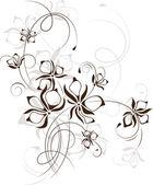 Vintage floral background, vector illustration — Stock Vector