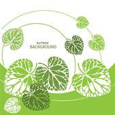 Green leaves background, vector illustration — Stock Vector