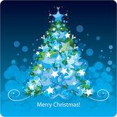 圣诞树、 贺卡。矢量插画 — 图库矢量图片