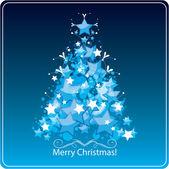 Gestileerde kerstboom, wenskaart. vectorillustratie — Stockvector