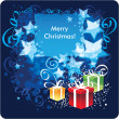 Vettoriale Stock : Merry Christmas, greeting card. Vector Illustration