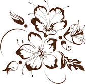 Floral design, vector illustration — Vecteur