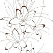 Floral design, vector illustration - Stock Vector