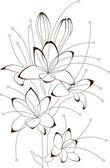 Floral design, vector illustration — Stock Vector