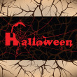 Halloween design background, vector illustration — Imagens vectoriais em stock
