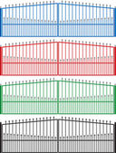 Metal fence — Stock Vector