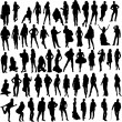 Stock Vector: People silhouette
