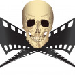 Stock Vector: Pirated movie